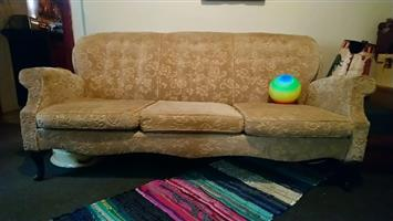 VINTAGE 3 Seater Couch for restoration