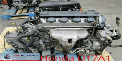 USED SECOND HAND LOW MILEAGE QUALITY ENGINES -  HONDA 1.7L FR-V - D17A1