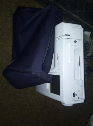 bernina 340 embroidery machine usb with the accessories 3 hoops and a bernina usb reduced to R10500
