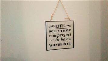 Life message wall hanger for sale