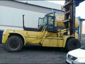 A used 42ton Hyster forklift