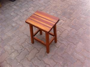 Wooden Stool and a Wooden Side Table