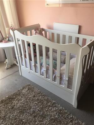 New cot and matching cupboard