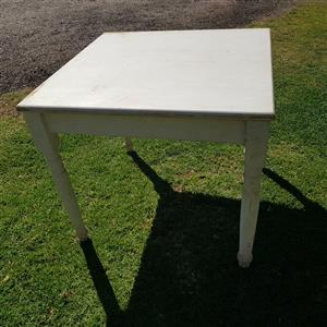 White wash square tables with chairs
