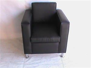 Cairo single seater black couch