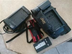 JVC video camera. Working. Charger incl. Needs new tapes and a battery. R200.