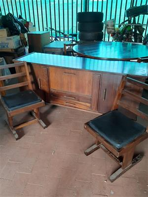 Solid Imbuia wood dining room set