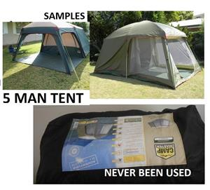 Campmaster - Lagoona Diner IV - 5 man tent. Never been used - 1.8k onco - collection only