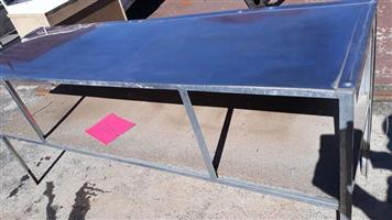 Steel work table for sale