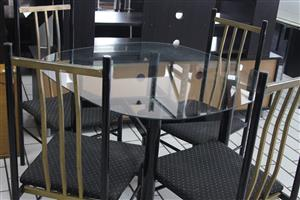5 piece glass dining room set S031788B #Rosettenvillepawnshop