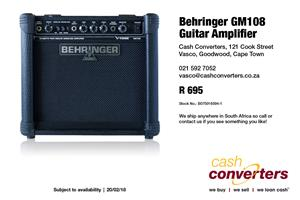 Behringer GM108 Guitar Amplifier