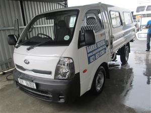 Kia K2700 for hire open/enclosed or cattle rails