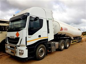 2017 Iveco Stralis HiWay 480 + 40 000l GRW Tank Trailer @ R1700000.00 EXCL