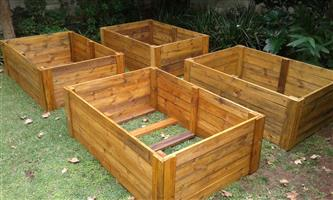 Wooden slat products- planted&herb boxes, storage boxes,Bird feeders&owl boxes, tablets&benches, sandpits etc.