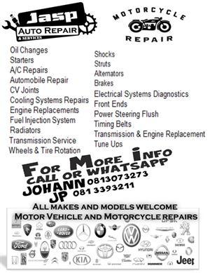 Motor vehicles & bike repairs (any motor repairs and various others)