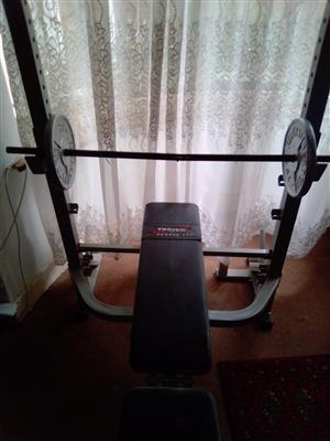 Home Gym Trojan 500  with 2 Darbel 20kg weights., used for sale  Johannesburg - Sandton