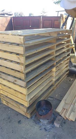 Light wooden pallets