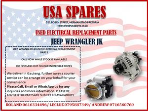 JEEP WRANGLER JK USED ELECTRICAL REPLACEMENT PARTS | Junk Mail
