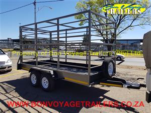 High rail 4 Meter Utility trailer