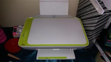 Green and white multi function printer