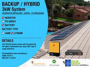 3KW Backup System – Hybrid