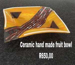 Ceramic hand made fruit bowl