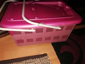 Pink picnic basket for sale