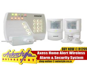 Axess Home Alert Wireless Alarm Security System