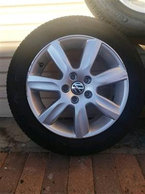 VW Tyres and rims for sale