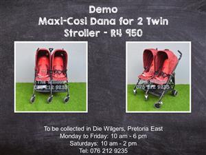 Demo Maxi-Cosi Dana for 2 Twin  Stroller