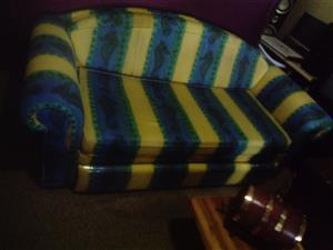 Sleeper Couch with 2 covers R 2800. Thick matress. Almost New