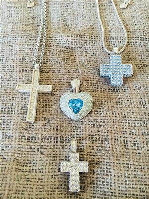 Original Swarovski pendants with 2 chains