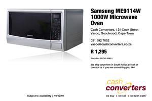 Samsung ME9114W 1000W Microwave Oven