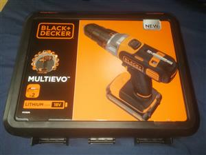 Brand New Reduced Price Black & Decker 18V Multievo Drill.(Shop price R1800)