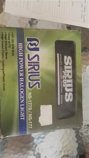 SIRIUS Spotlights with globes brand new, never been used