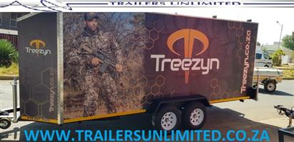 TREEZYN ENCLOSED TRAILER.