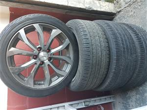 Mag rims and tyres 225.45ZR17