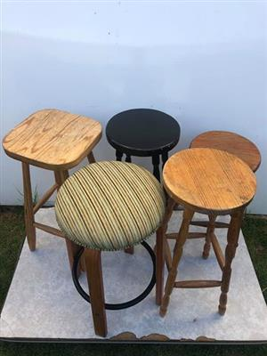 5 stools for sale