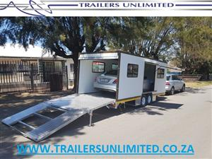 WWW.TRAILERSUNLIMITED.CO.ZA  ENCLOSED CAR TRAILERS.