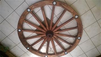 Big wagon wheel chandelier