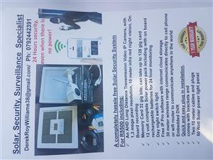 Totally wireless solar IP camera and light system