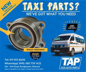 Front Wheel Bearing - NEW parts for Nissan Impendulo - Taxi Auto Parts - TAP