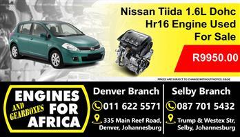 Nissan Tiida 1.6L Hr16 Dohc Engine used For Sale