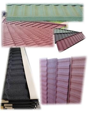 GRIT COATED METAL TILES