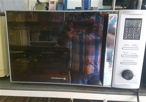 Kelvinator metallic silver mirror face microwave, grill and oven combo