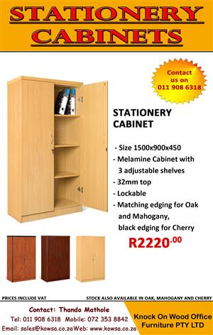 Stationery Cabinets! Available in Oak, Cherry and Mahogany.