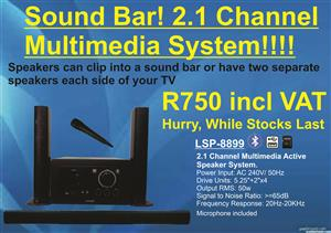 2.1 Channel Home Theater System (Sound Bar)
