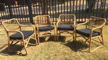 4 x Ratan Chairs with cushions