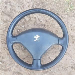 Peugeot 307 Steering Wheel with Airbag _ R1300