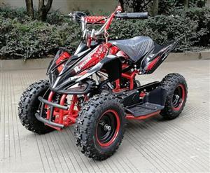 Kids Pocket Quad Bike 49cc - Modern Design - 6 INCH Wheels - Double Exhaust - Reduction Gearbox